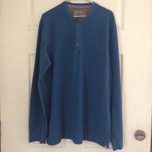 Eddie Bauer Men's henley thermal long sleeve shirt
